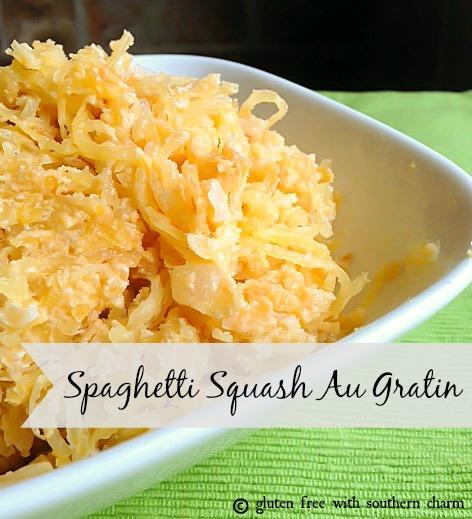 Spaghetti Squash Au Gratin @Gluten Free with Southern Charm